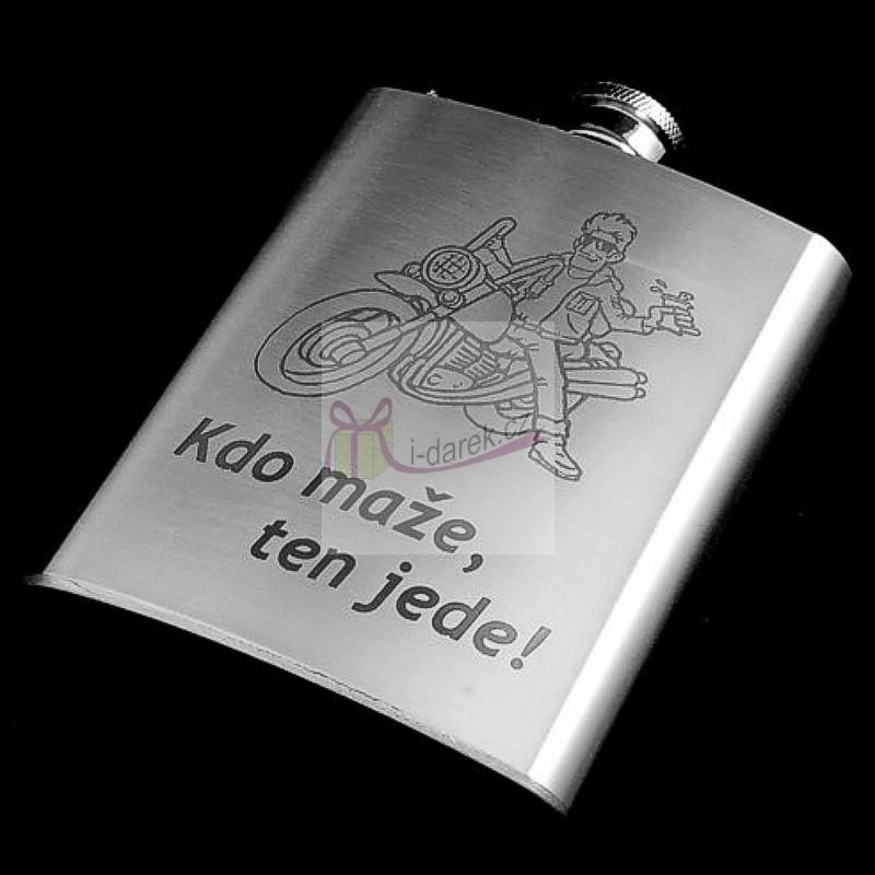 991c77b63a625 Kovová ploskačka - butylka Pre motorkárov | Originálne, luxusné i ...