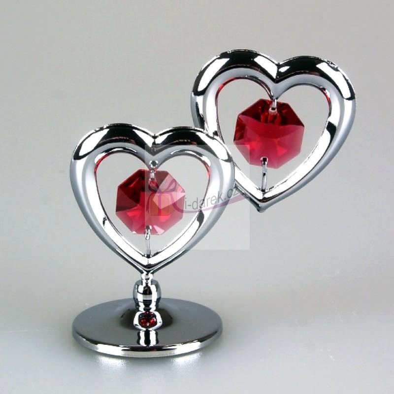 4a8c803b243a Dve zamilované srdcia Swarovski - strieborná