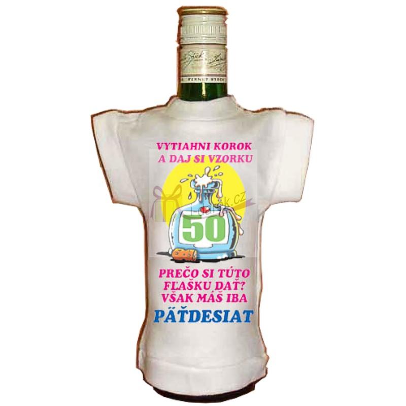 85eaea336513 Tričko na fľašu jubileum - výročie 50 rokov