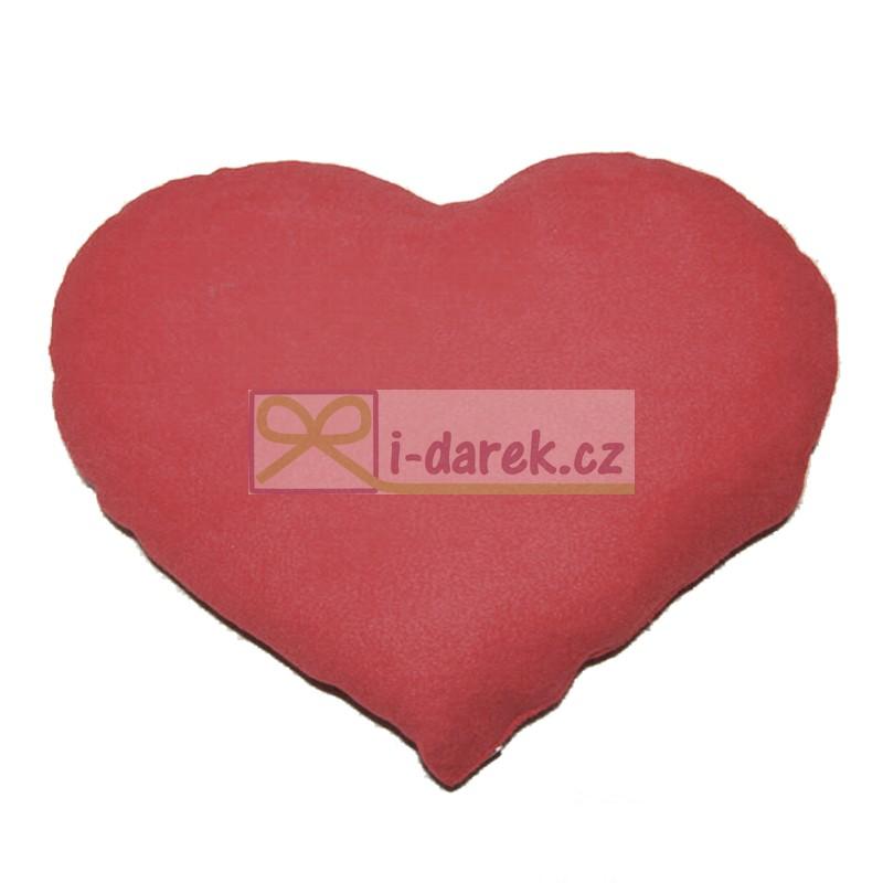 Veľký plyšový vankúš 50x40 - červené srdce