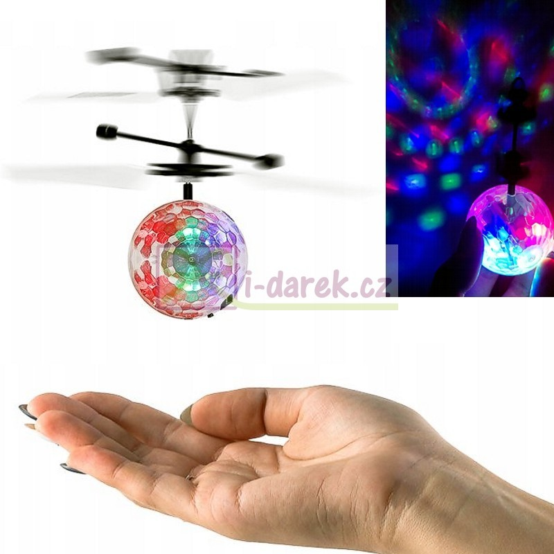 Vznášajúca sa disco guľa (USB) - farebne svietiaca