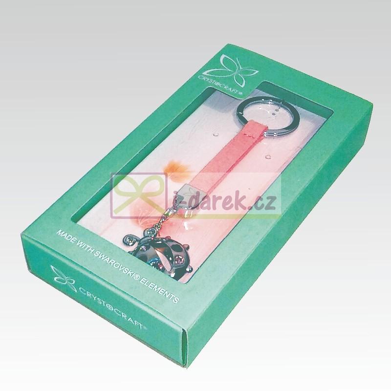 Kľúčenka LIENKA Swarovski - strieborná  72f0e2c0aa6